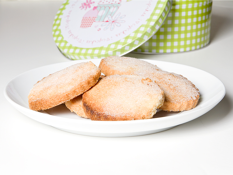 home-made shortbread biscuits