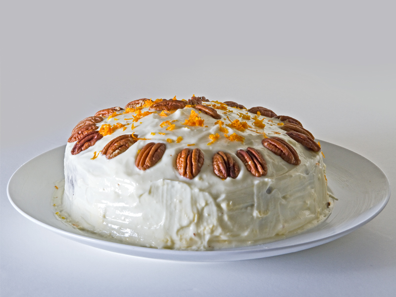Birthday Carrot Cake Photograph