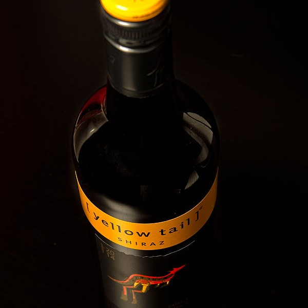 A Bottle of Yellow Tail Australian Red Wine