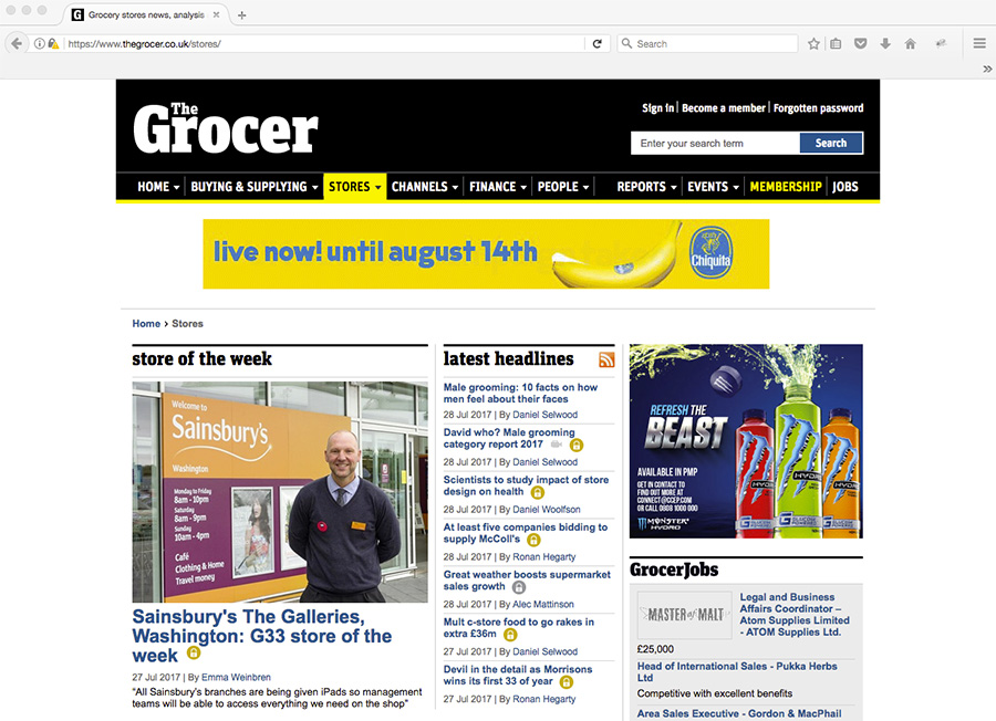 Quick Corporate Photograph For The Grocer Magazine
