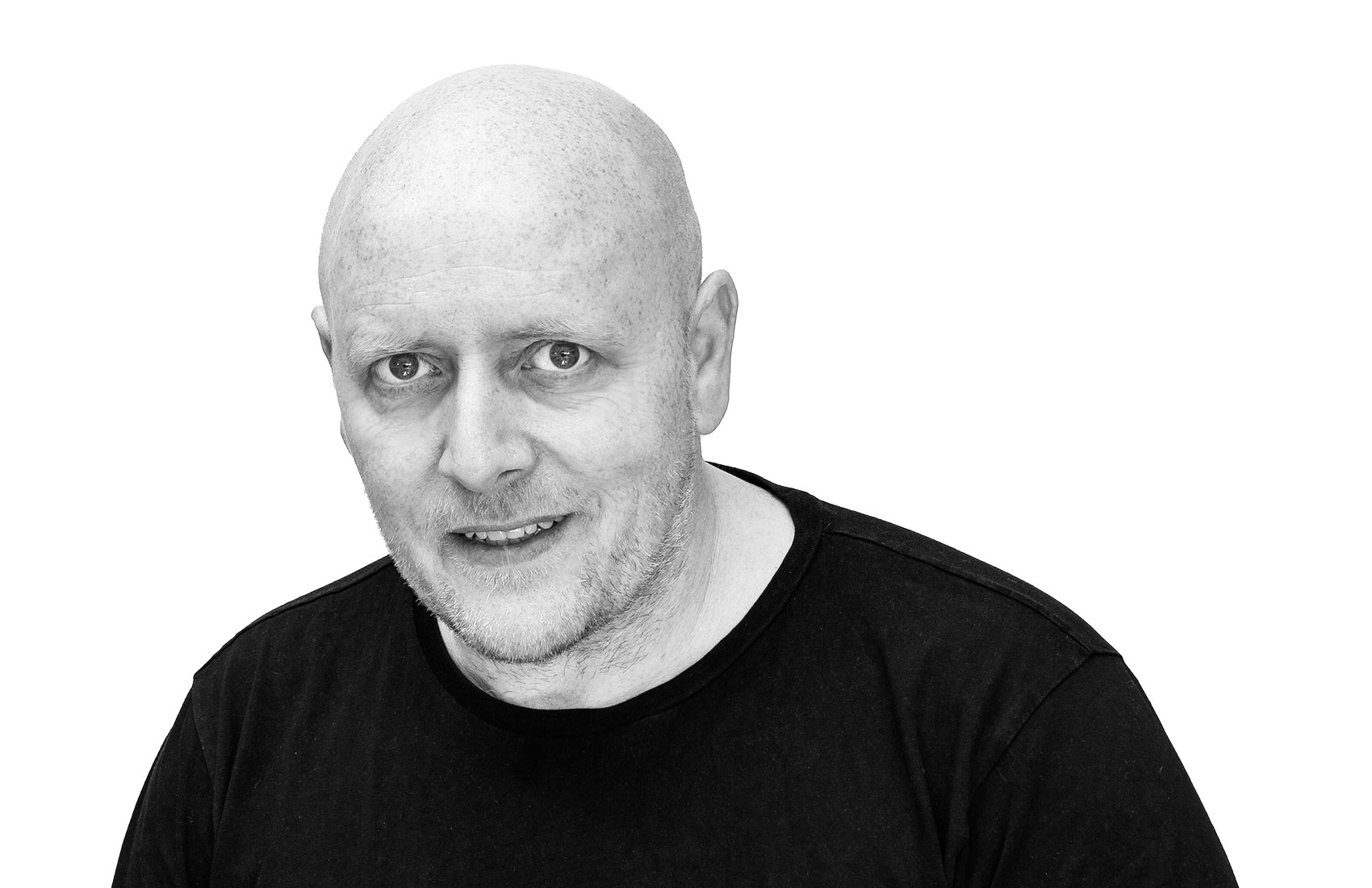 Black and White photograph of Michael Common (MC Photography North East)